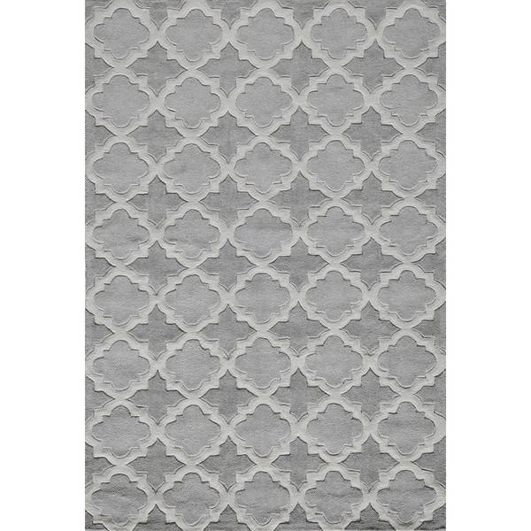 Momeni Bliss Grey Paloma Trellis Hand-Tufted Rug (8' X 10') - 8' x 10'