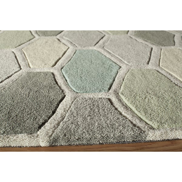 Momeni Bliss Multicolor Stiles Hexagon Hand-Tufted Rug - 8' x 10'