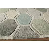 Momeni Bliss Multicolor Stiles Hexagon Hand-Tufted Rug - 8' x 10'