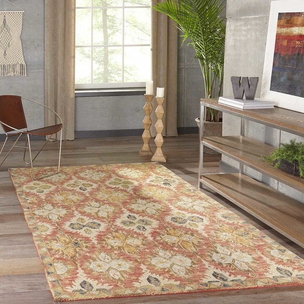 Momeni Tangier Red Hand-Tufted Wool Rug (3'6 X 5'6)