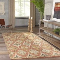 """Momeni Tangier Red Hand-Tufted Wool Rug - 3'6"""" x 5'6"""""""