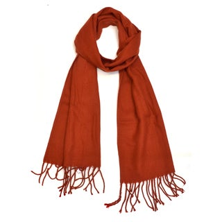 Dasein Solid Color Classic Style Woven Scarf