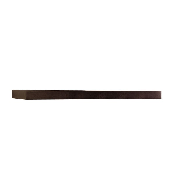Shop Inplace 48 Inch Espresso Wall Mounted Floating Shelf Free