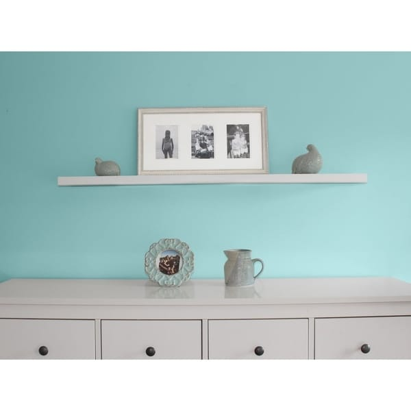 Shop Inplace 48 Inch White Wall Mounted Floating Shelf Free