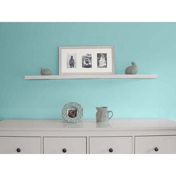 Stupendous Shop Inplace 48 Inch White Wall Mounted Floating Shelf On Home Interior And Landscaping Ferensignezvosmurscom