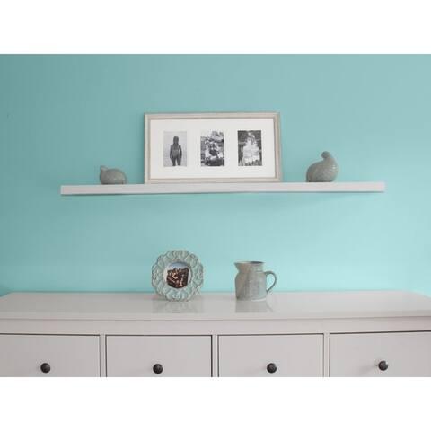 InPlace 48-inch White Wall Mounted Floating Shelf