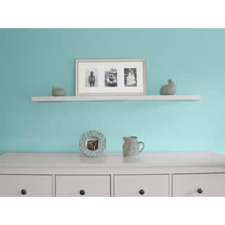 InPlace 47.24-inch White Wall Mounted Floating Shelf - 47.24 inches wide x 7.75 inches deep