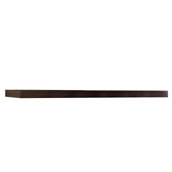 Inplace 60 Inch Espresso Wall Mounted Floating Shelf