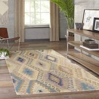 Momeni Tangier Multicolor Hand-Tufted Wool Rug - 5' x 8'
