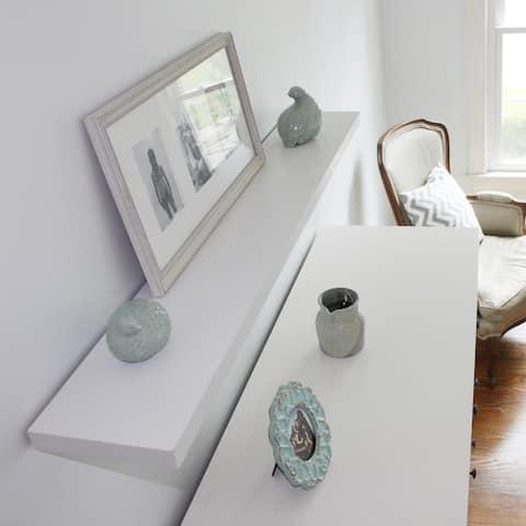 InPlace 60-inch White Wall Mounted Floating Shelf