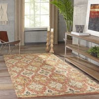 Momeni Tangier Red Hand-Tufted Wool Rug (8' X 11') - 8' x 11'