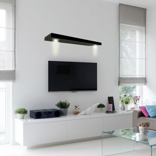Lewis Hyman Black Wall-mounted Floating Shelf with 2 LED Lights