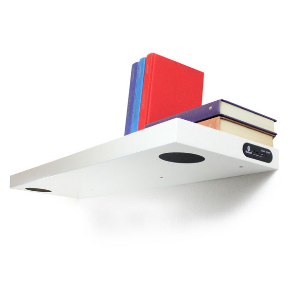 Shop Inplace Wall Mounted White Floating Shelf With 2