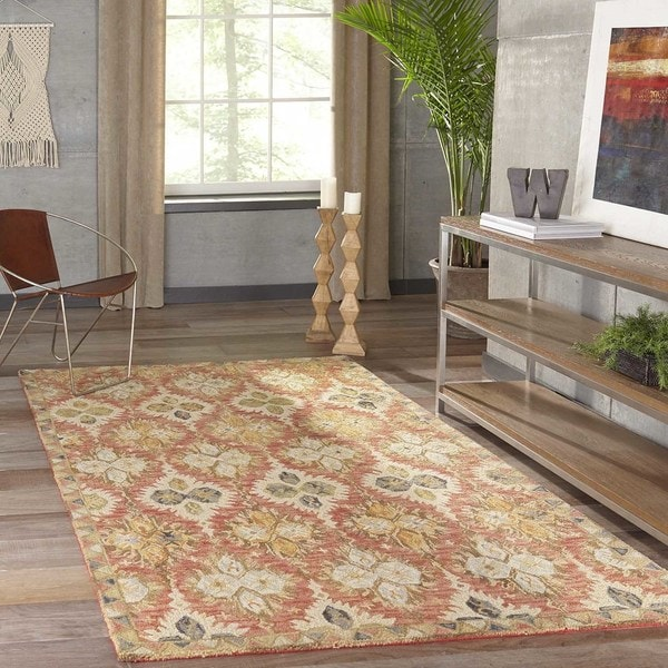 """Momeni Tangier Red Hand-Tufted Wool Rug (9'6 X 13'6) - 9'6"""" x 13'6"""""""