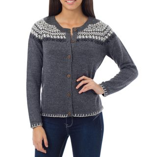 Alpaca Blend 'Junin Elegance' Cardigan (Peru) (2 options available)