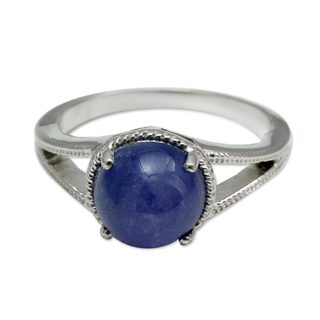 Handcrafted Sterling Silver 'Indian Sky' Tanzanite Ring (India)