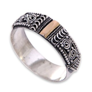 Handmade Sterling Silver 'Beautiful Enigma' Ring (Indonesia)