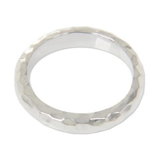 Handmade Sterling Silver 'Silver Mosaic' Ring (Indonesia)