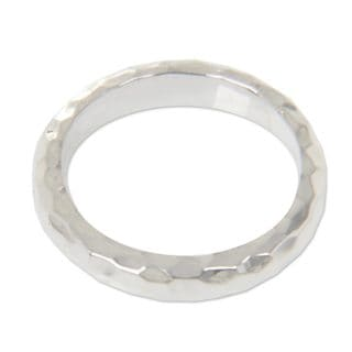 Handcrafted Sterling Silver 'Silver Mosaic' Ring (Indonesia)