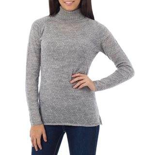 Alpaca Blend 'Zigzag Parallels' Sweater (Peru)