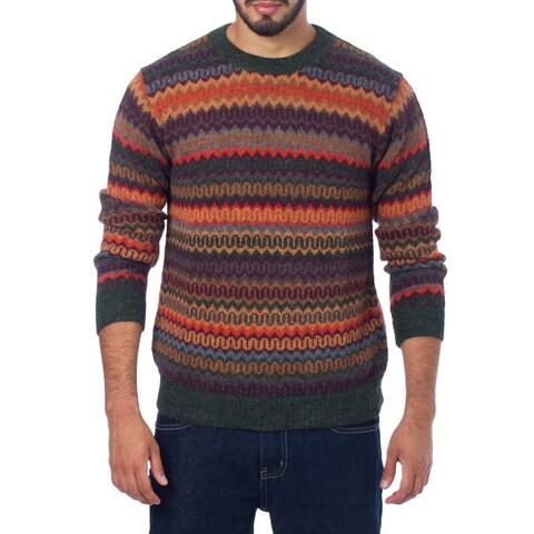 Handmade Men's Alpaca 'Andean Homeland' Sweater (Peru)