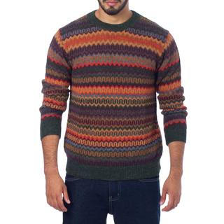 Handmade Men's Alpaca 'Andean Homeland' Sweater (Peru)