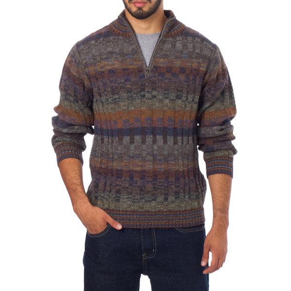 Shop Handmade Mens Alpaca Traveler Turtleneck Sweater Peru