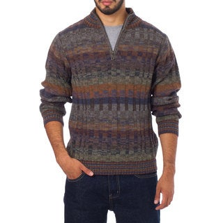 Handmade Men's Alpaca 'Traveler' Turtleneck Sweater (Peru)