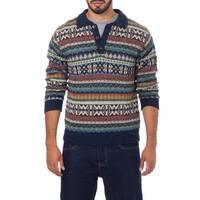 Handmade Men's Alpaca 'Pisac Casual' Polo Sweater (Peru)