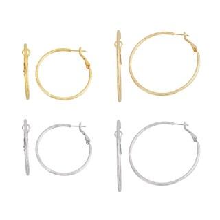 Isla Simone- GOLD KNIFECUT HOOP 40MM/50MM, SILVER KNIFECUT 40MM/50MM