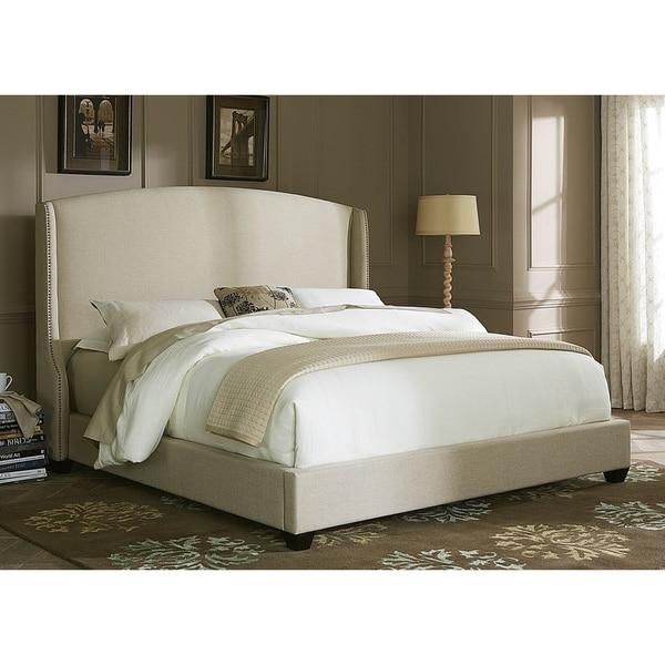 upholstered bedroom sets. Natural Linen Wing Shelter Upholstered Bed Set  Free Shipping Today
