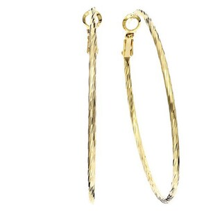 Isla Simone - Twisted Diamond Cut Hoop Earrings (More options available)