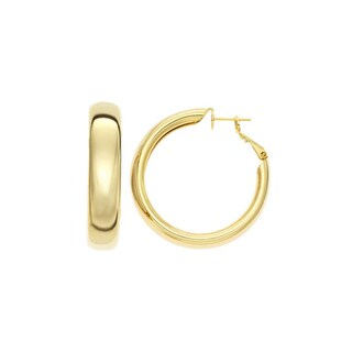 Isla Simone 14k Yellow Goldplated Polished Hoop Earrings