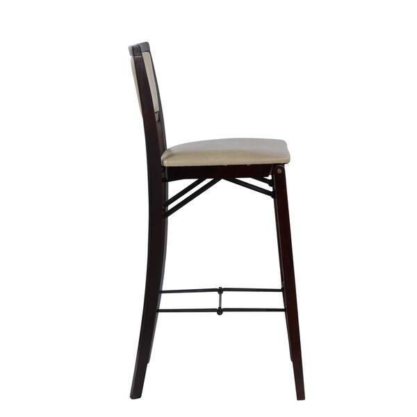 Pleasant Shop Linon Lesvos Folding Bar Stool Jute Padded Back Free Bralicious Painted Fabric Chair Ideas Braliciousco