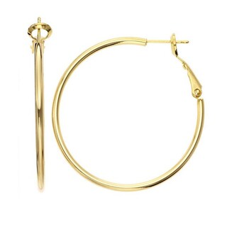 Isla Simone - Gold Plated Polished Hoop Earrings