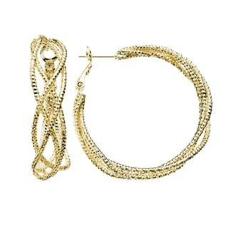 Isla Simone - Gold Plated Hoop Earring