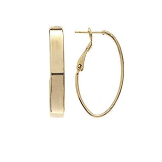 Isla Simone 5mm Large Rectangle Tube Oval Hoop Earrings