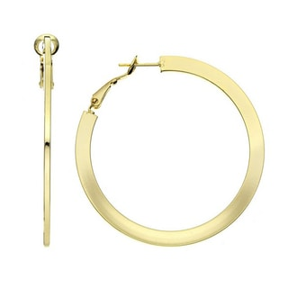 Isla Simone 14KT Gold Plated Pancake Earring