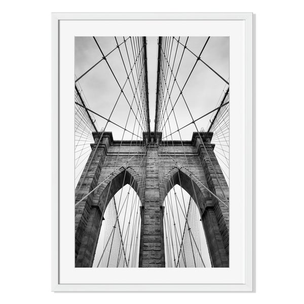 Gallery Direct Brooklyn Bridge, New York City Print on Paper Framed Print