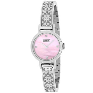 Coach Women's 14501316 Studio Round Silvertone Stainless Steel Bracelet Watch