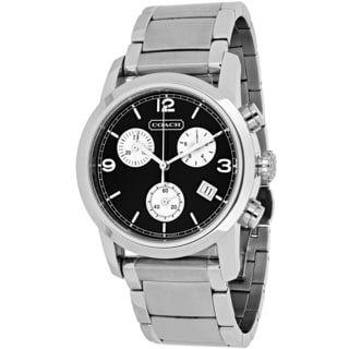 Coach Men's 14600949 Bleecker Round Silvertone Stainless Steel Bracelet Watch