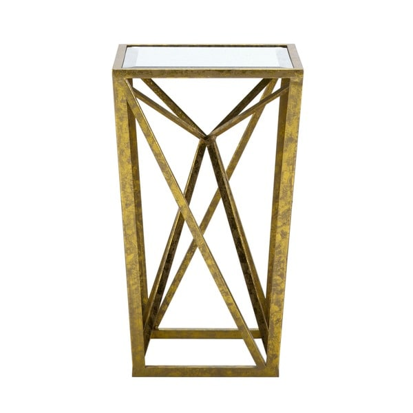 Madison Park Maxx Gold Angular Mirror Accent Table   Free Shipping Today    Overstock.com   17839661