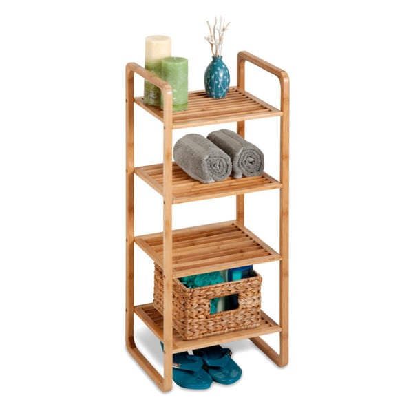 4-tier Bamboo Accessory Shelf