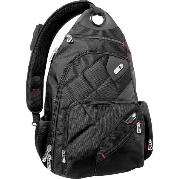 Ful Brick House Black Laptop Sling Backpack with Smart Phone
