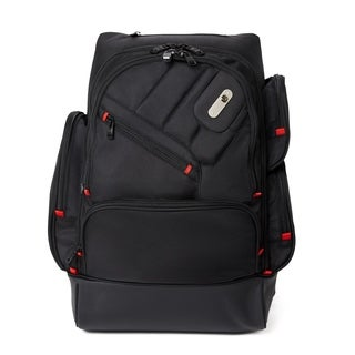 Ful Refugee Black Laptop Backpack with MP3 Pocket