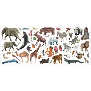 Roommates Animal of the World Peel and Stick Giant Wall Decals