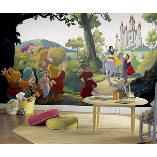 Roommates Snow White 'Happily Ever After' XL Chair Rail Prepasted Mural 6-foot x 10.5-foot Ultra-str
