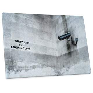 """Banksy """"What Are You Looking At?"""" Gallery Wrapped Canvas Wall Art"""