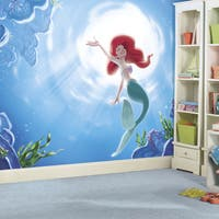 Roommates The Little Mermaid 'Part of your World' XL Chair Rail Prepasted Mural 6-foot x 10.5-foot U