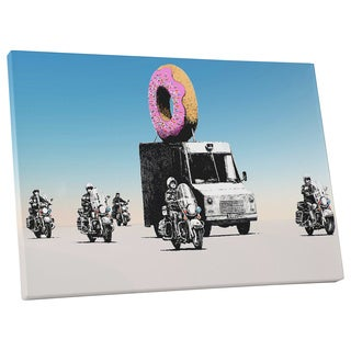 "Banksy ""Donut Police"" Gallery Wrapped Canvas Wall Art"